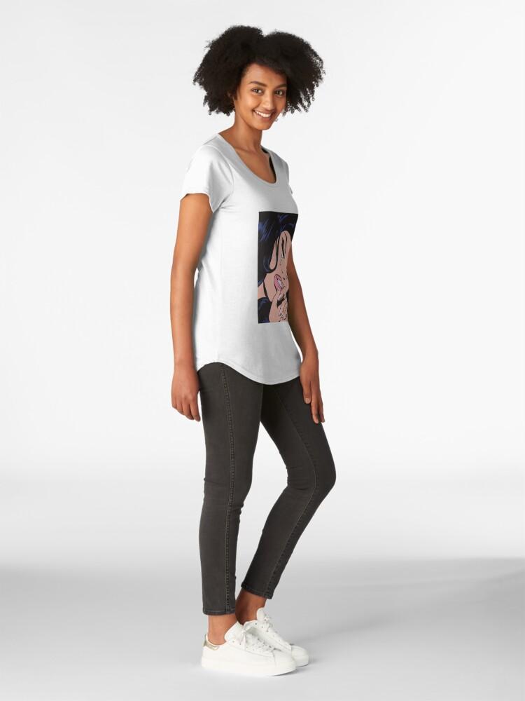 T-shirt premium échancré ''Cheveux noirs pleurer Comic Girl': autre vue