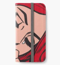 Red Hair Crying Comic Girl iPhone Wallet/Case/Skin