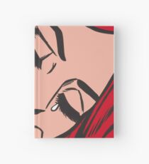 Red Hair Crying Comic Girl Hardcover Journal