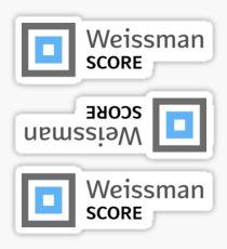 Weissman Score Sticker