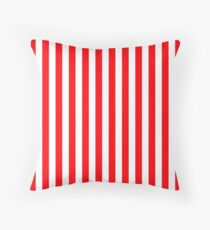 Large Christmas Red and White Cabana Tent Stripe Throw Pillow