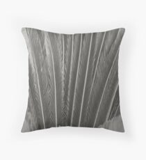 Long Grey Leaves Throw Pillow