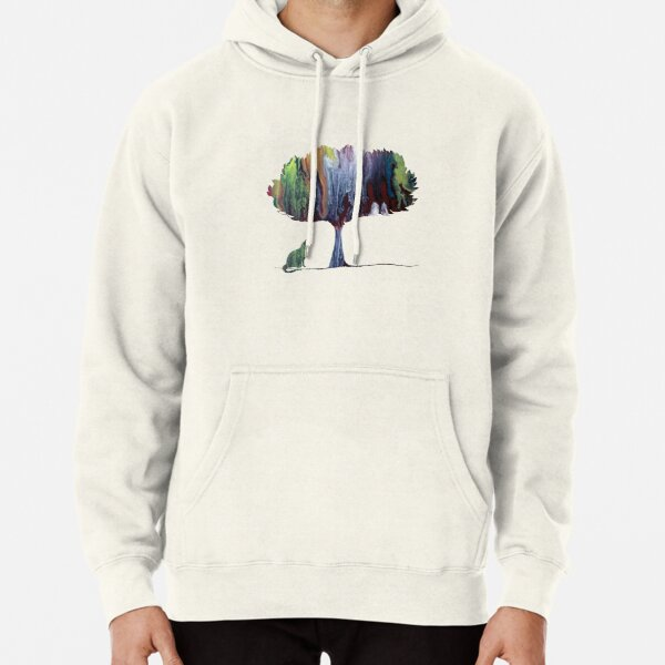 Cat under a tree Pullover Hoodie