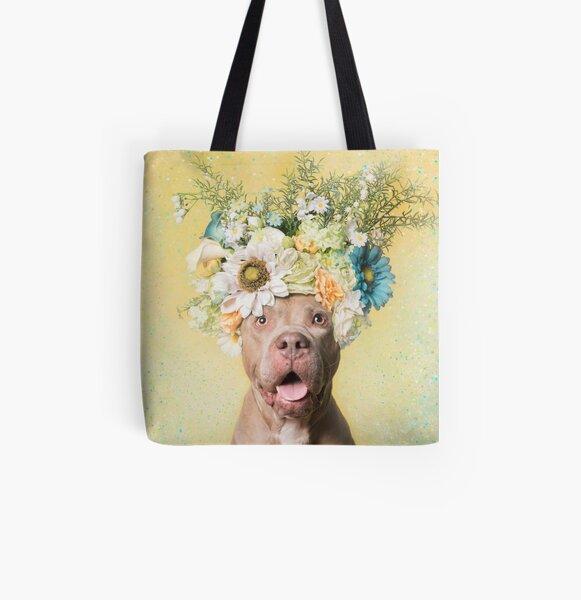Flower Power, Princess All Over Print Tote Bag