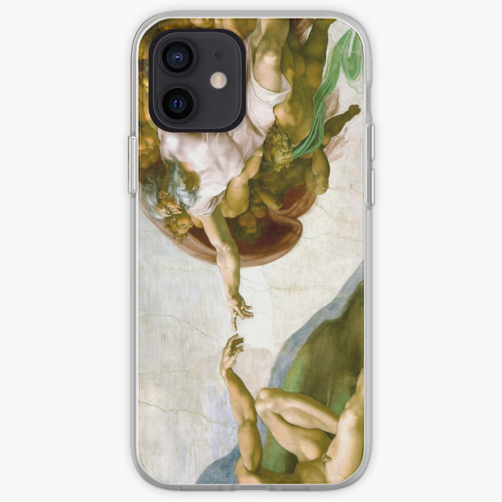 The Creation of Adam Painting by Michelangelo Sistine Chapel iPhone Case & Cover