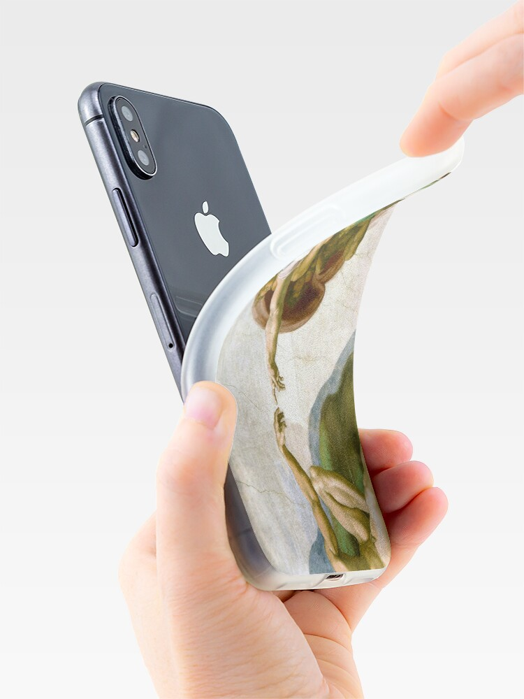 Alternate view of The Creation of Adam Painting by Michelangelo Sistine Chapel iPhone Case & Cover