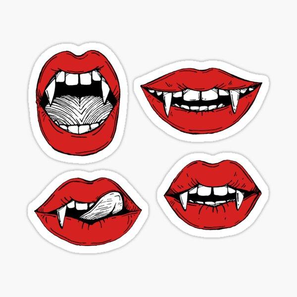 Vampire red lips stickers Sticker