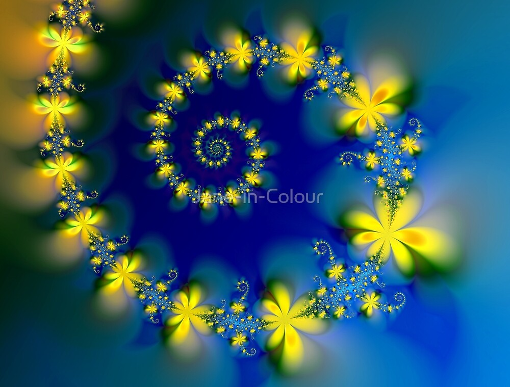 Flowers and Spirals by Jane-in-Colour