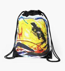 Crazy - Malerei - Jazzkeller Drawstring Bag