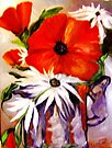 Rabbits and Carrots, Poppies and Daisies by Barbara Sparhawk