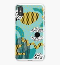 Boss - abstract 80s style memphis vibes patterns 1980's retro minimal throwback decor iPhone Case/Skin