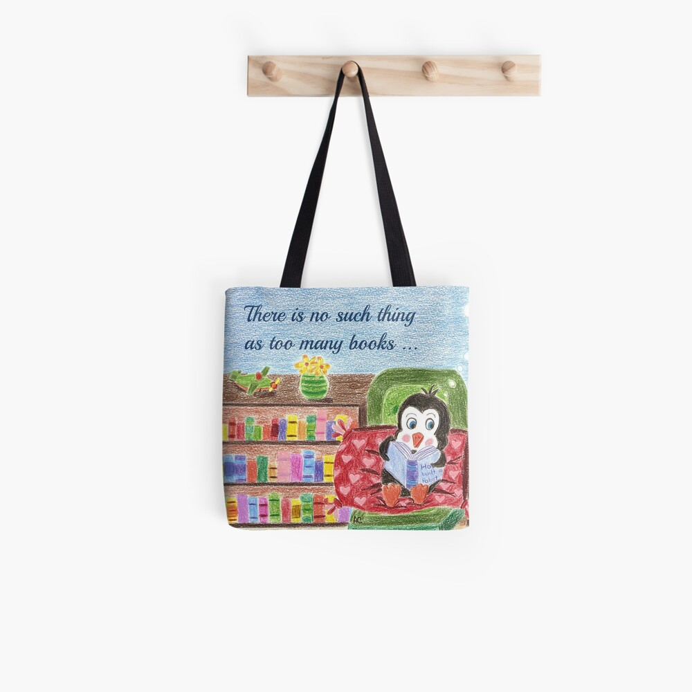 Smart Reading Penguin Tote Bag