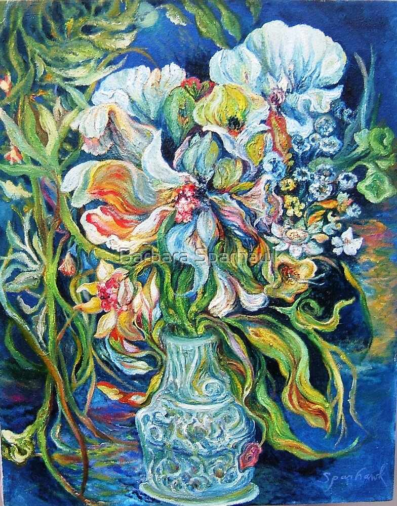 EFFUSIVE BOUQUET AT SEASIDE, OUTSIDE,  NIGHT by Barbara Sparhawk