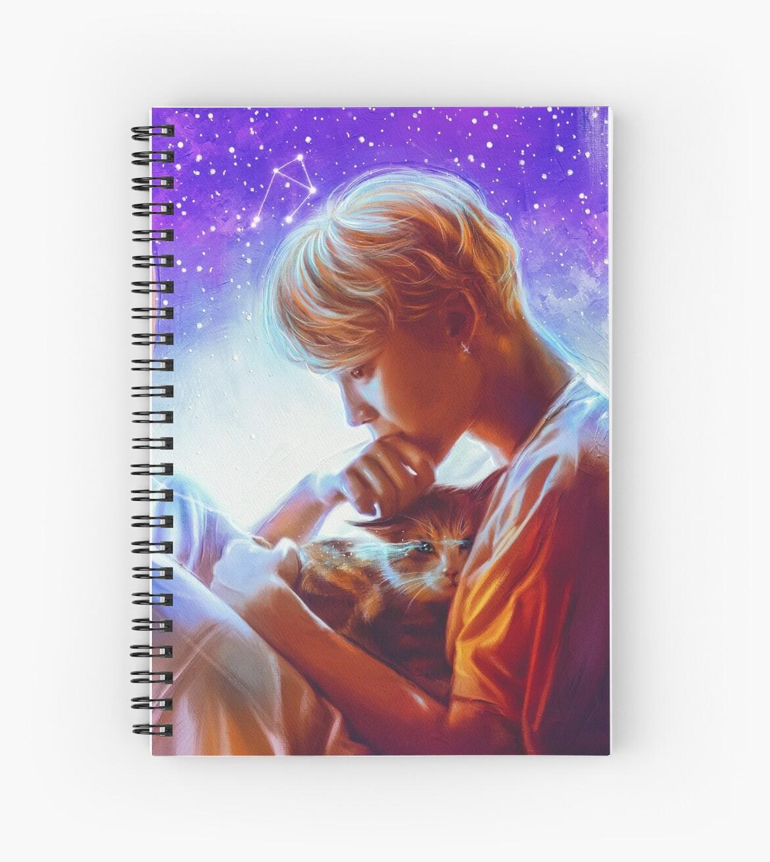 """""""Jimin """"Serendipity"""""""" Spiral Notebooks by Ellen-Drawings"""