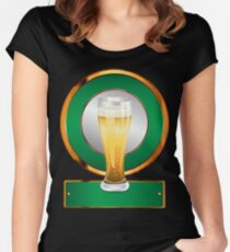 Glass of beer 2 Women's Fitted Scoop T-Shirt
