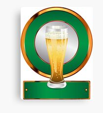 Glass of beer 2 Canvas Print