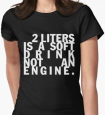 2 liters engine displacement Women's Fitted T-Shirt
