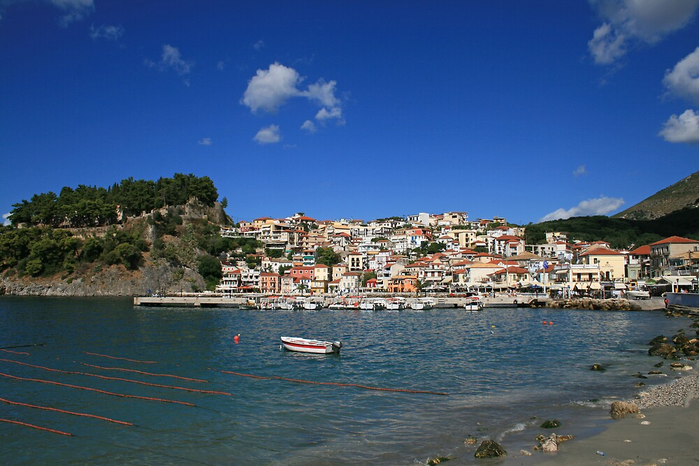 Parga Castle and Town by DRWilliams