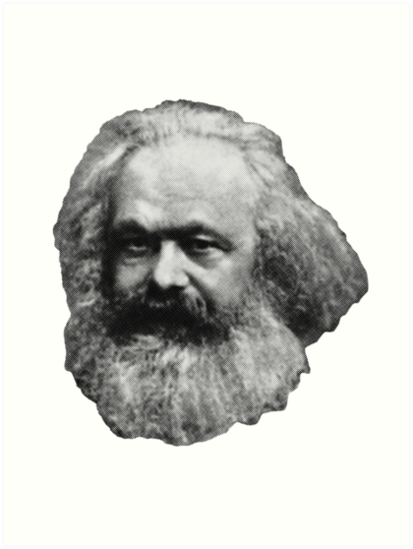Karl Marx Floating Head by GodsAutopsy