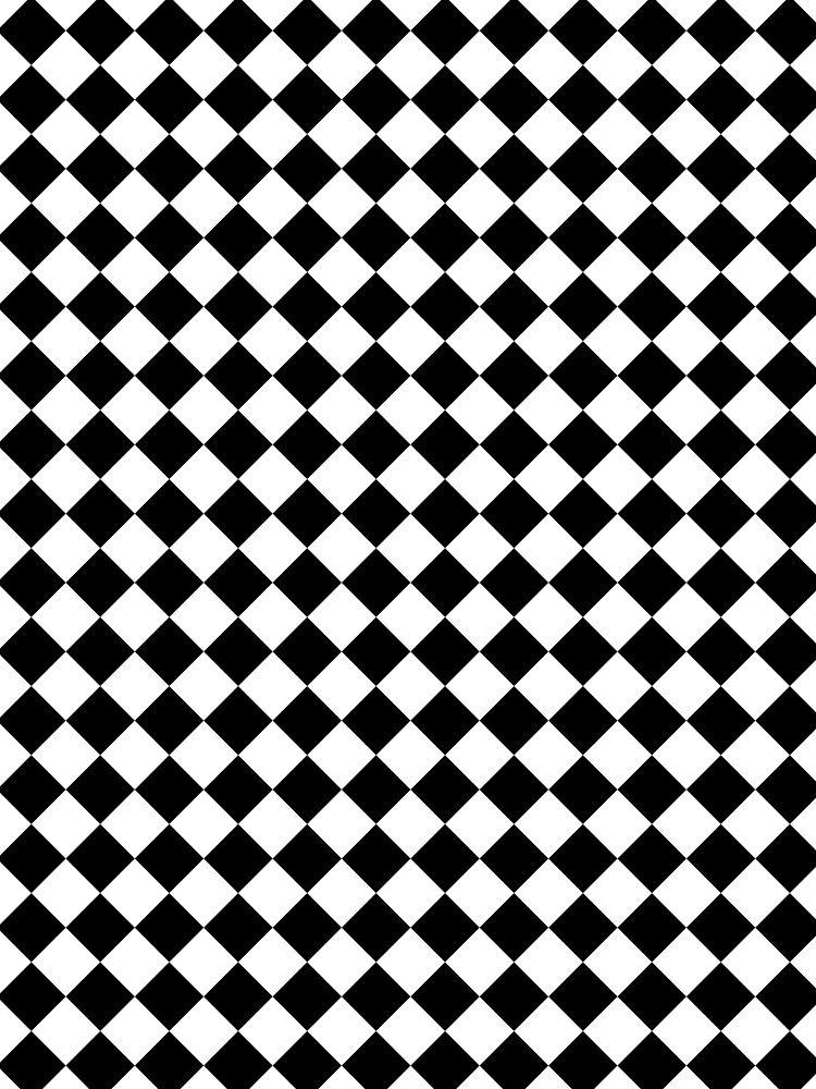 Classic Black And White Large Diamond Checker Board Pattern Graphic Stunning Checker Pattern