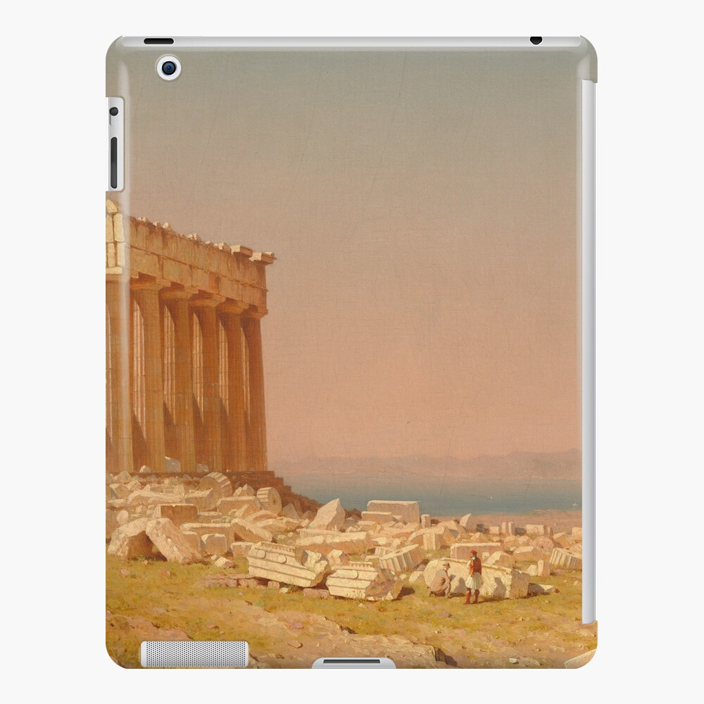 Ruins of the Parthenon Oil Painting by Sanford Robinson Gifford iPad Case & Skin