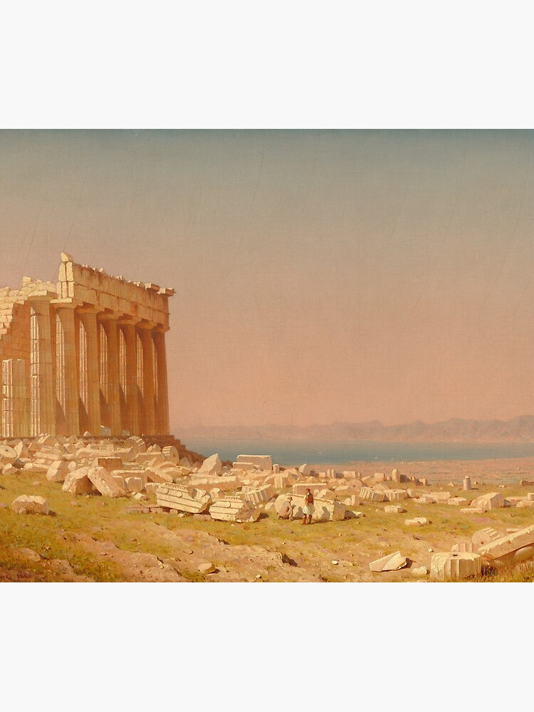 Ruins of the Parthenon Oil Painting by Sanford Robinson Gifford by podartist