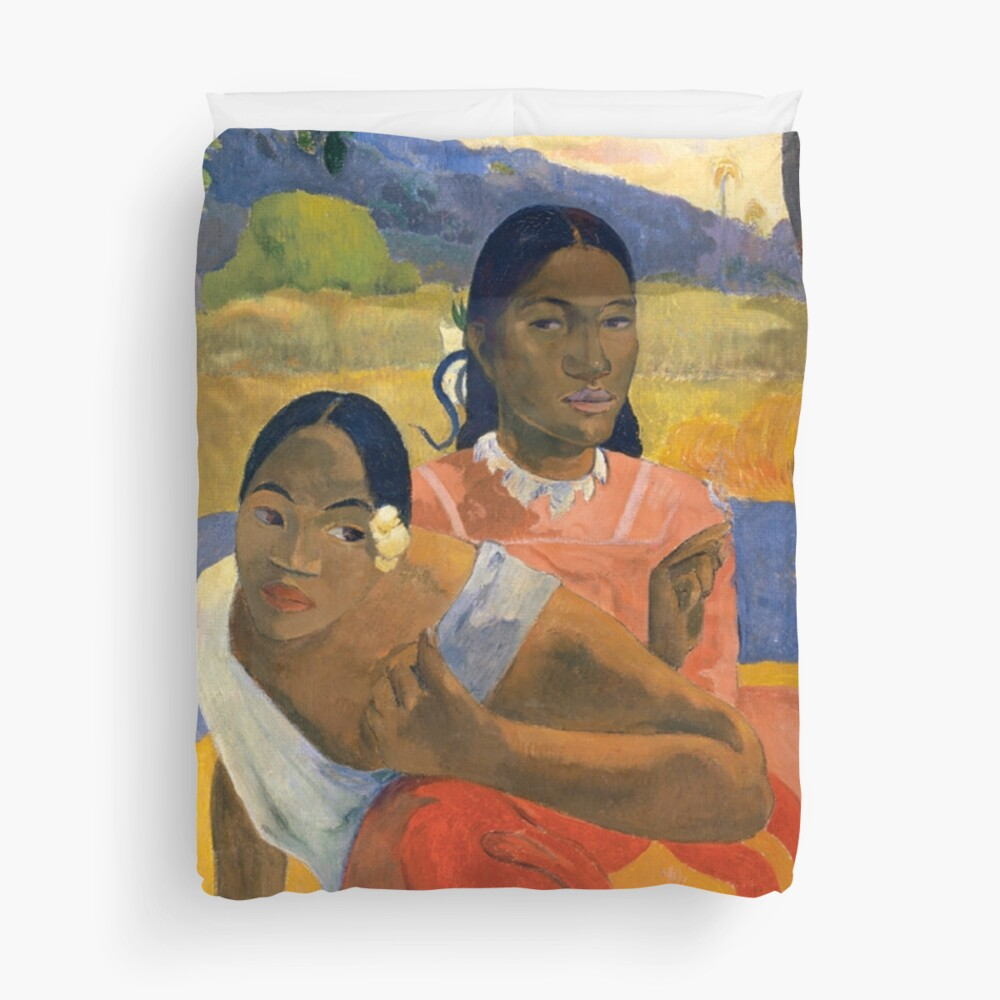Affordable Art $300,000,000 When Will You Marry by Paul Gauguin Duvet Cover