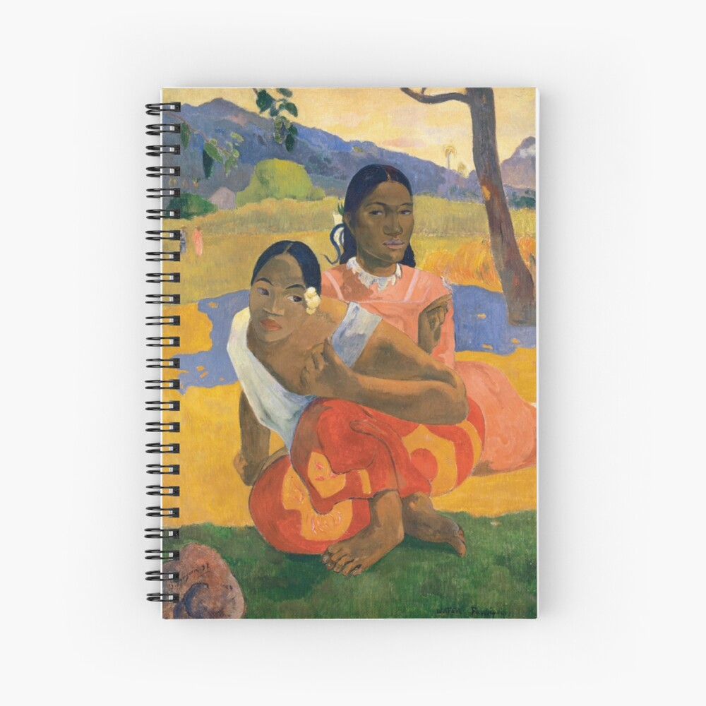 Affordable Art $300,000,000 When Will You Marry by Paul Gauguin Spiral Notebook