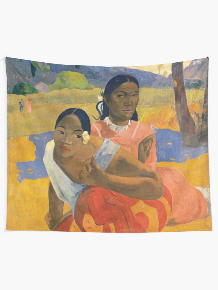 Alternate view of Affordable Art $300,000,000 When Will You Marry by Paul Gauguin Tapestry