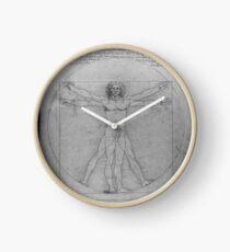 Leonardo da Vinci Study of Vitruvian Man Life Study of Perfect Proportionality Clock