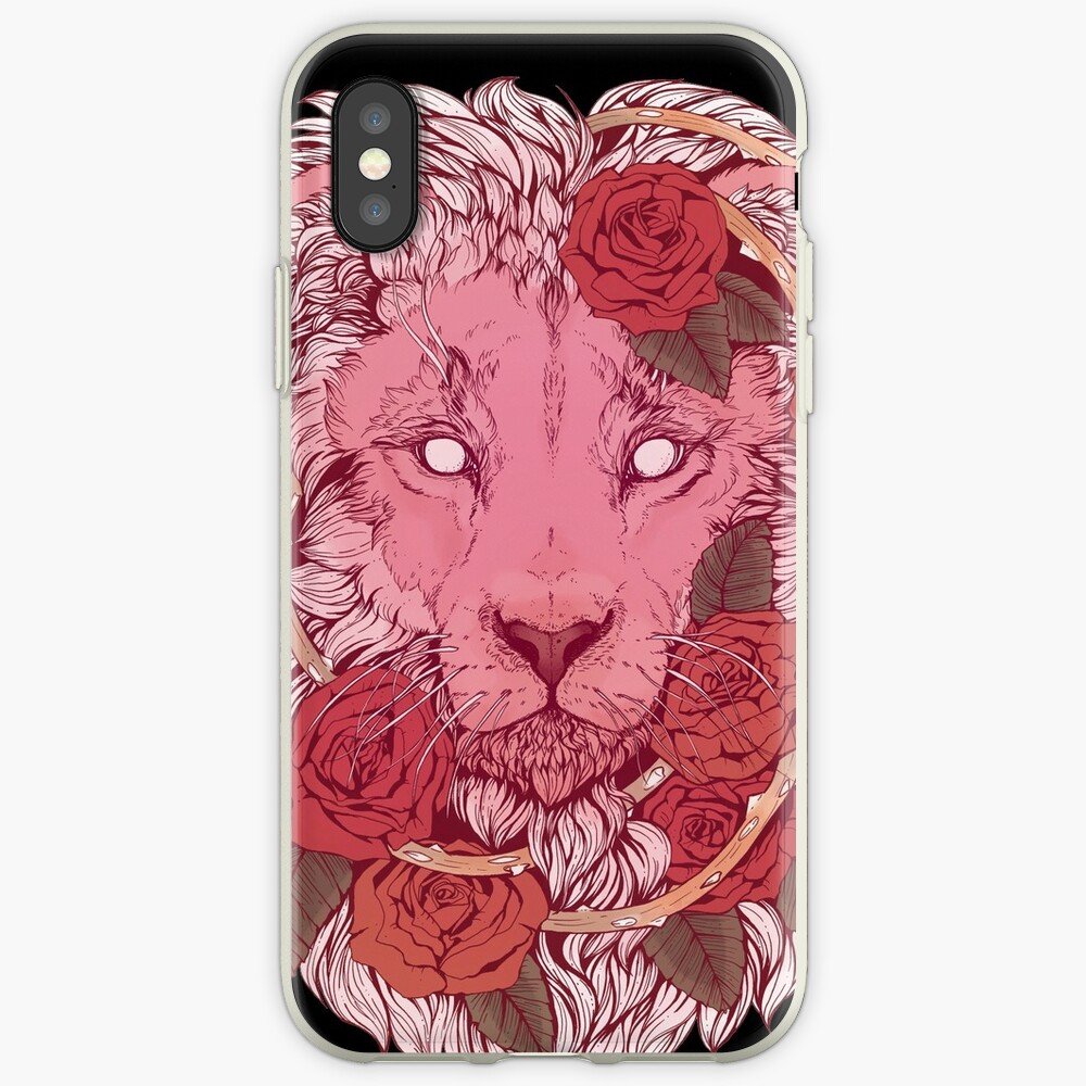 Löwe der Rosen iPhone-Hülle & Cover