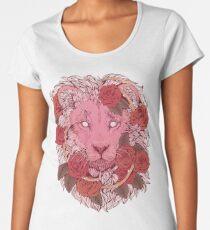 Lion of Roses Premium Scoop T-Shirt
