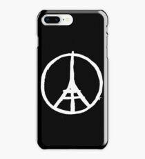 White Eiffel Tower Repeat on Black Paris Terror Attacks iPhone 8 Plus Case