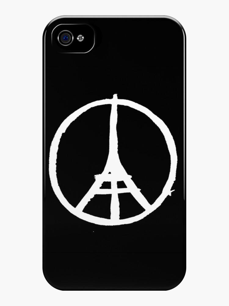White Eiffel Tower Repeat on Black Paris Terror Attacks by podartist