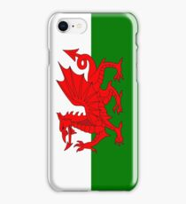 UK United Kingdom Great Britain Wales Welsh Flag Green and White with Red Dragon iPhone Case/Skin