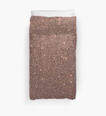 Bronzegold brünierter metallischer brauner Glitter Bettbezug