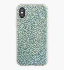 Green Shagreen Stingray Simulated Skin iPhone Case