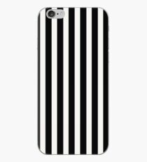 Black & White Licorice Cabana Stripe iPhone Case