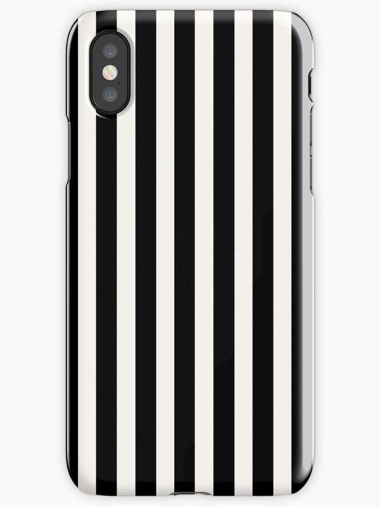 Black & White Licorice Cabana Stripe by podartist