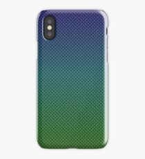 Rainbow Blues and Greens Carbon Fiber Pattern iPhone Case/Skin