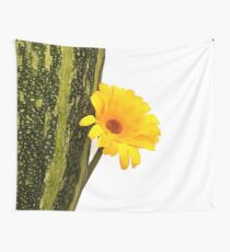 Yellow flower and zucchini Wall Tapestry