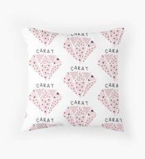 SEVENTEEN CARAT Diamond Logo Throw Pillow