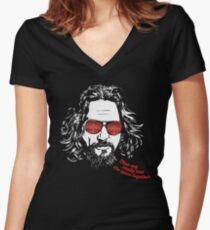 The Big Lebowski - The Dude Women's Fitted V-Neck T-Shirt