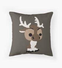 Adorable Reindeer Throw Pillow