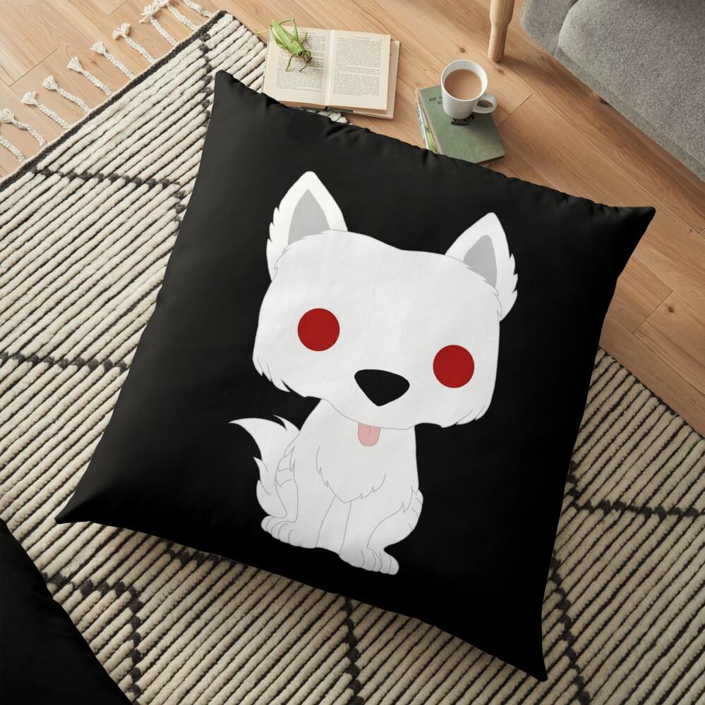 Ghost Puppy Floor Pillow