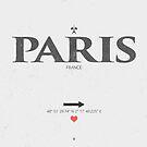 Paris - France I Love von Black Sign Artwork
