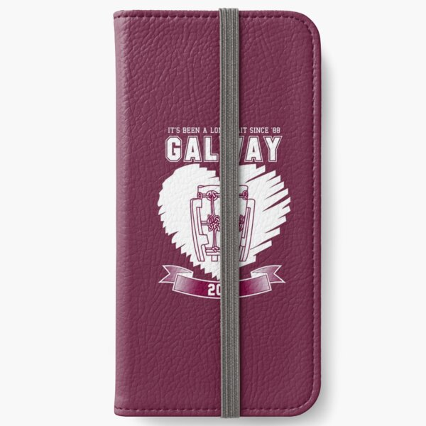 All Ireland Hurling Champions: Galway (Maroon/White) iPhone Wallet