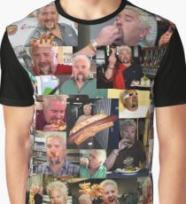 50 Shades of Guy Fieri Flavortown Food Collage Funny FULL SIZE Graphic T-Shirt