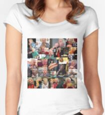 50 Shades of Guy Fieri Flavortown Food Collage Funny FULL SIZE Women's Fitted Scoop T-Shirt