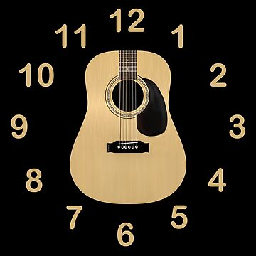 Acoustic Guitar Clock by JerryWLambert